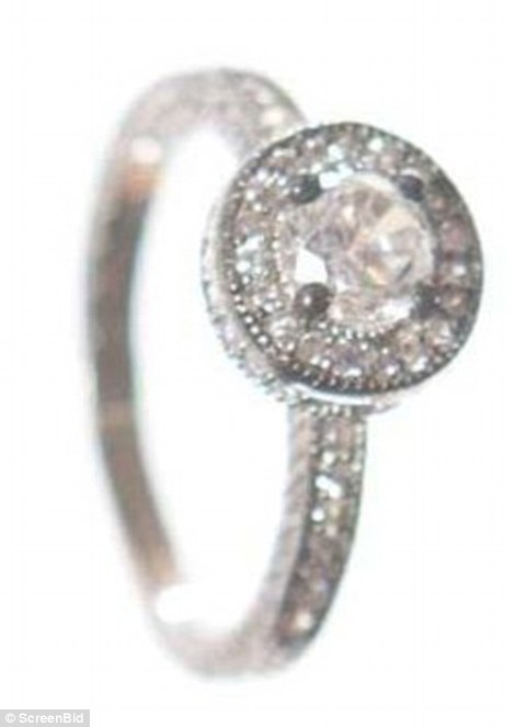 This ring, which Henry gave Betty, may be costume jewelry but it sparkles in the classical style Mad Men became known for