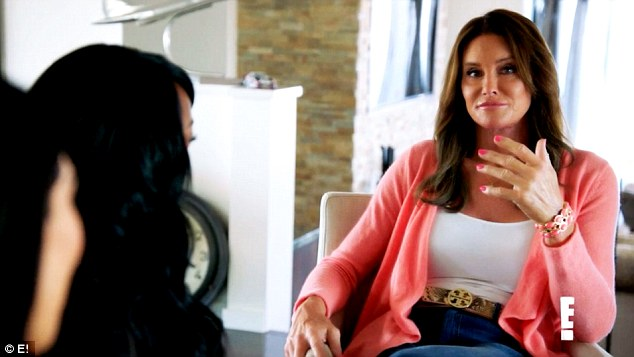 Nice try: Kim Kardashian giggled at Caitlyn Jenner's attempts at a female voice in latest clip for I Am Cait, which was released on Thursday
