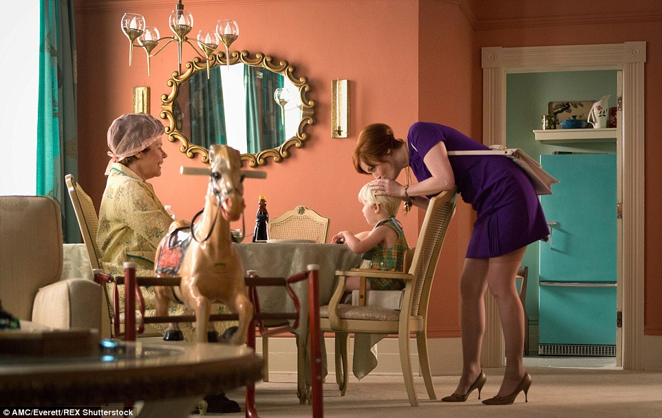 This vintage rocking horse, the Cheyenne model made by Wonder Products Co, belonged to Joan (pictured in Season 7, Episode 6)