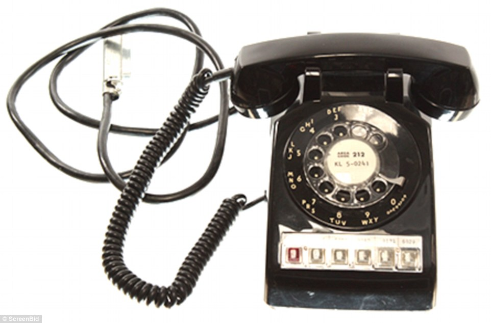 This old black rotary phone, lifted from that scene (above), will no doubt delight vintage and Mad Men fanatics. Starting: $75