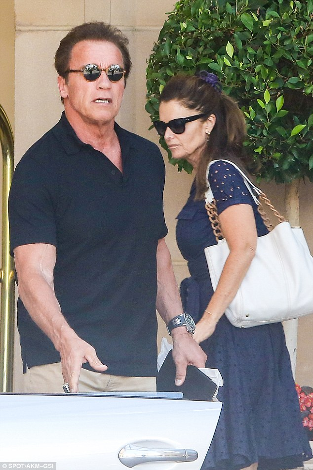 Reunited: Setting the standard for forgive and forget, Maria Shriver joined Arnold Schwarzenegger to celebrate his birthday in Beverly Hills, California, on Wednesday