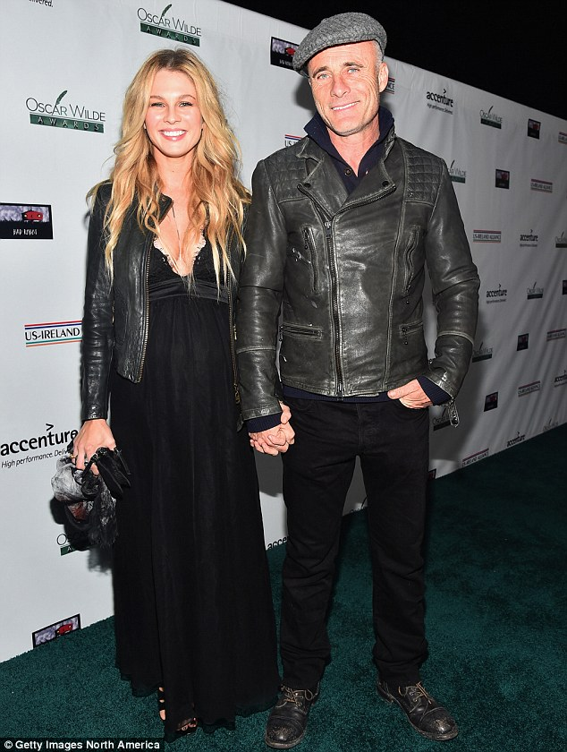Matching outfits: Caitlin and Timothy both wore all-black outfits in February at an event in Santa Monica, California
