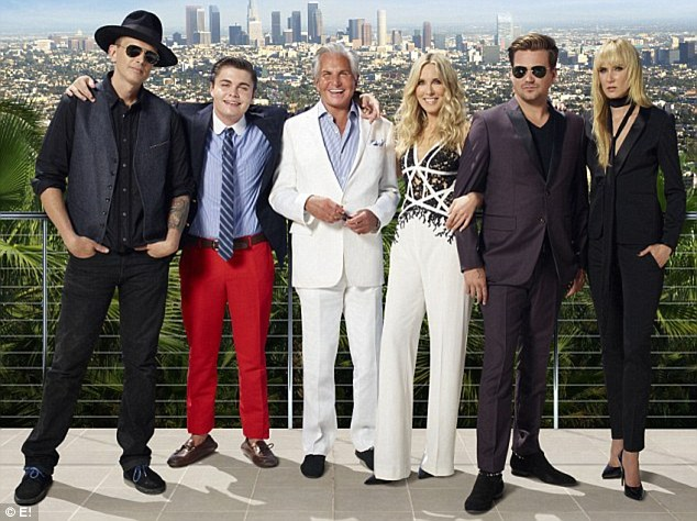 The line-up: The reality show - which premiered over the weekend - stars Sean, Kimberley, mother Alana, half-brother Ashley (far left), and Alana's ex George Hamilton and his son George Hamilton Junior (centre left)