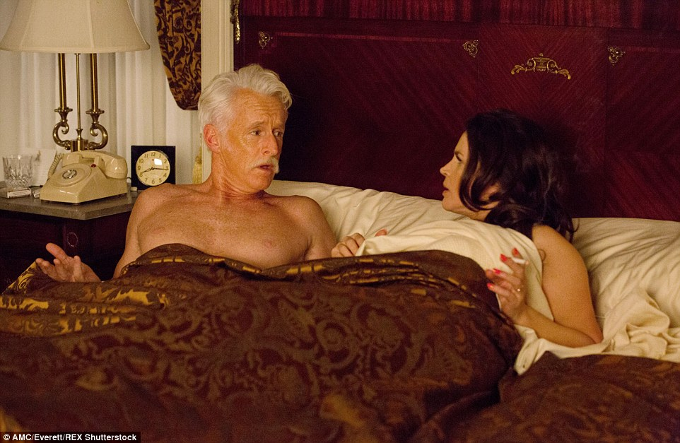 Adding authenticity to this scene betweenRoger Sterling and Marie Calvert in Season 7, Episode 14 is the stunning cream telephone