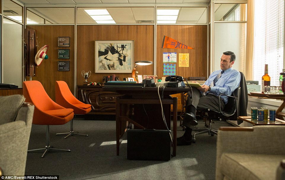 You can treat your guests to a Mad Men-esque evening with these brilliantly orange chairs (pictured in S7, E10)
