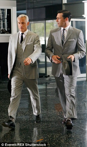 Dapper gentleman: Known for his suave style, Don Draper's grey suit will no doubt be snapped up early on. The damaged Calvin Klein 42 regular gray pinstripe suite has a rip along the left shoulder. It has a starting price of $150