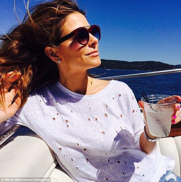 Life's good! Menounos shared a blissful image of herself drinking a chill beverage while on a boat the day her new E! gig was announced