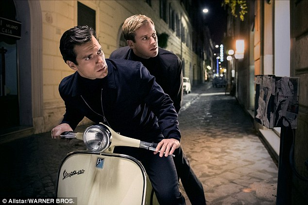 Henry Cavill (left) and Armie Hammer (right) playNapoleon Solo and Illya Kuryakin in the movie, due for release next month