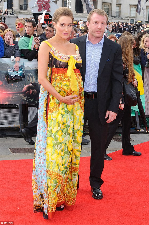 Jacqui pregnant with her first child with Guy at the World Premiere of Harry Potter, Deathly Hallows, Part 2 in London, July, 2011