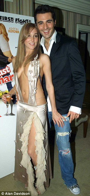 Jacqui with her ex-boyfriend Darius Danesh at the Just Married premiere in London in 2003