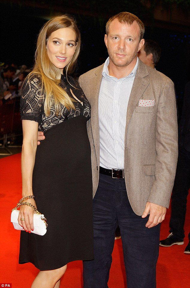 Jacqui and Guy at a film premiere of Dark Knight Rises at Odeon Leicester Square in July, 2012