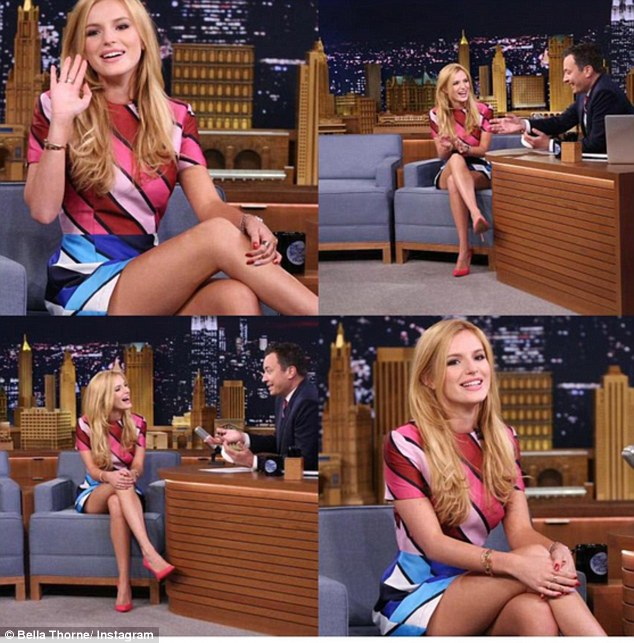 Landmark: 'Thank you so much @jimmyfallon @fallontonight for having me as a guest on your show! It was truly monumental for me and I am forever grateful,' Bella wrote with this image