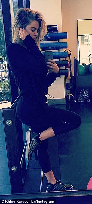 'When I'm in L.A I go hard,' Khloe's social media pays homage to her gruelling workout sessions