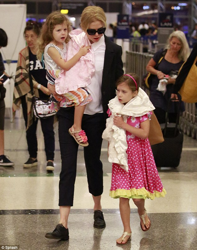 Girls' trip: Nicole was spotted at LAX earlier in the day as she jetted out of the US