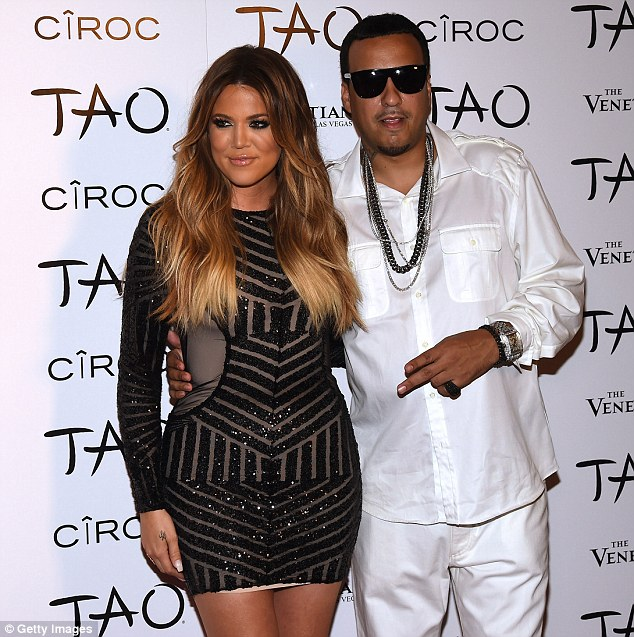 Gradual process: The American TV star has been working on her body day by day, pictured with rapper French Montana in July 2014