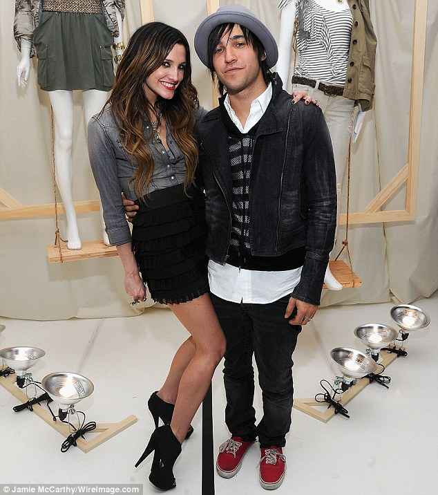 Split: Ashlee was formerly married to Fall Out Boy bassist Pete Wentz; the ex couple pictured here in 2010