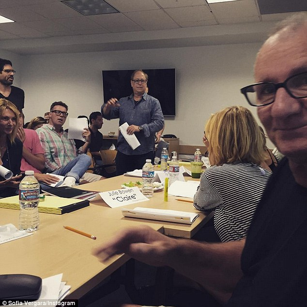 Season seven: In an Instagram snap from Wednesday, Sofia revealed that her and her cast members have begun their first table reads for season seven of Modern Family