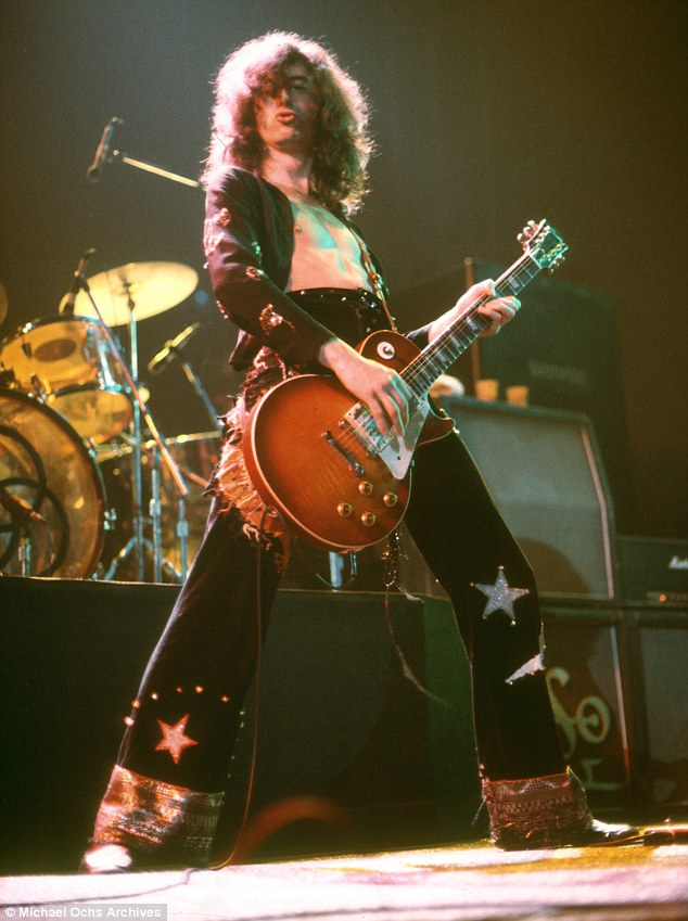 Jimmy Page, pictured, was a legendary genius in the 1970s with Led Zeppelin