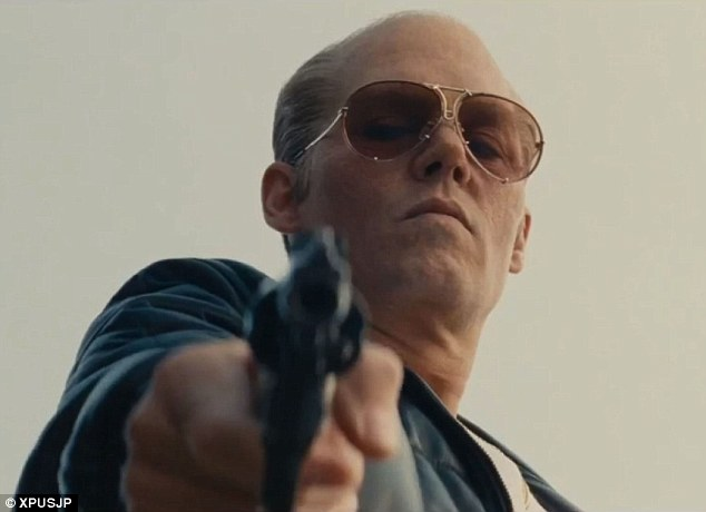 Scary: Johnny Depp has fully shed his quirky typecast to immerse himself as a cold blooded killer in the first full trailer for Black Mass