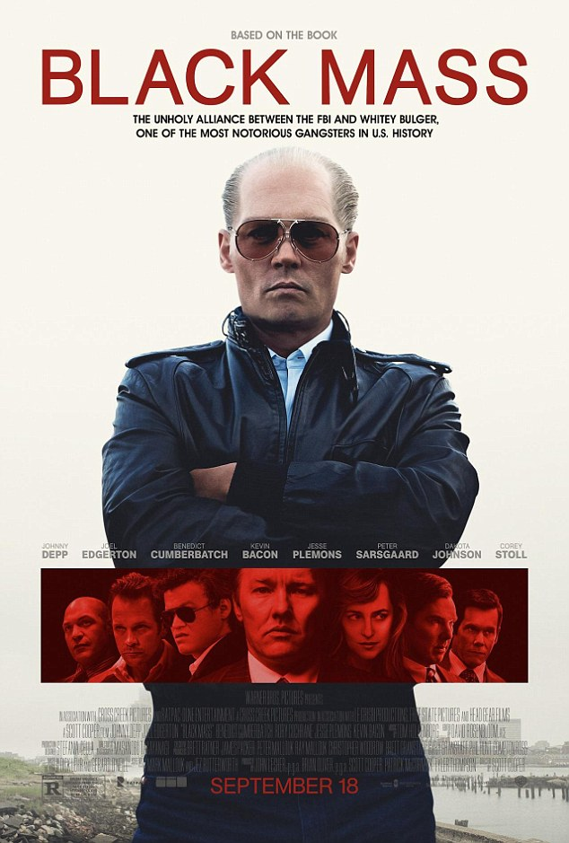 Coming soon: Black Mass hits US cinemas on September 18, but won't reach the UK until November 13