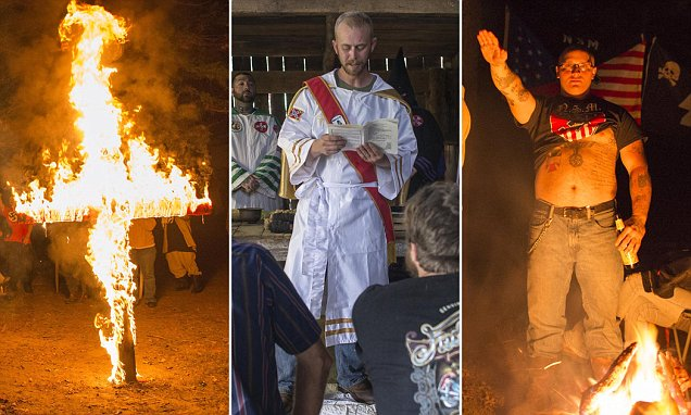 KKK images show white supremacists still carrying out cross burnings across US