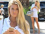 LOS ANGELES, CA - JULY 31: Charlotte McKinney is seen on July 31, 2015 in Los Angeles, California.  (Photo by Bauer-Griffin/GC Images)