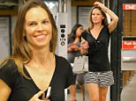 EXCLUSIVE: Hilary Swank is all smiling while entering the subway to Catch An Uptown E Train After Shopping At Giorgio Armani in New York City on Wednesday Afternoon Jul 29, 2015\n\nPictured: Hilary Swank\nRef: SPL1090443  290715   EXCLUSIVE\nPicture by: Felipe Ramales / Splash News\n\nSplash News and Pictures\nLos Angeles: 310-821-2666\nNew York: 212-619-2666\nLondon: 870-934-2666\nphotodesk@splashnews.com\n