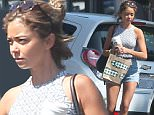 140779, EXCLUSIVE: Sarah Hyland gets some coffee and breakfast at Starbucks in Los Angeles. Los Angeles, California - Saturday August 1, 2015. Photograph: Sam Sharma, © PacificCoastNews. Los Angeles Office: +1 310.822.0419 sales@pacificcoastnews.com FEE MUST BE AGREED PRIOR TO USAGE