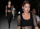 Gigi Hadid leaving Bootsy Bellows in West Hollywood,CA  Pictured: Gigi Hadid Ref: SPL1090829  010815   Picture by: FJRNEWZ / Splash News  Splash News and Pictures Los Angeles: 310-821-2666 New York: 212-619-2666 London: 870-934-2666 photodesk@splashnews.com