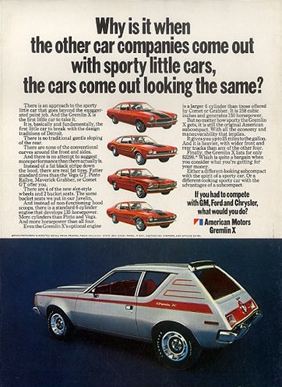 1971 AMC Gremlin X Advertisement