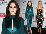 """BEVERLY HILLS, CA - AUGUST 01:  Actress Michelle Dockery attends the """"Downton Abbey"""" cast photo call at The Beverly Hilton Hotel on August 1, 2015 in Beverly Hills, California.  (Photo by Jason LaVeris/FilmMagic)"""