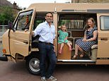 Hamil Stevenson with wife Ester and daughter Safia (age 3.5yrs) with their VW camper van. He went on a car maintainance course to restore his van.................................................©George Jaworskyj 2015..www.urbanimages.co.uk