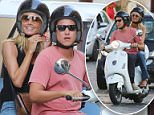 31.JULY.2015 - ROME - ITALY *AVAILABLE FOR UK SALE ONLY* ** EXCLUSIVE PICTURES ** GERMAN SUPERMODEL HEIDI KLUM AND HER BOYFRIEND VITO SCHNABEL ENJOYING A RIDE ON VESPA IN ROME, ITALY. THE COUPLE RODE THEIR VESPA THROUGH SPANISH STEPS WHICH IS A PEDESTRIAN AREA AND ARE STOPPED BY A TRAFFIC POLICEMAN WHO GIVES THEM THE FINE. LATER IN THE EVENING HEIDI AND VITO ENJOYED A WALK IN ROME'S CENTER BYLINE MUST READ : CIAO PIX/XPOSUREPHOTOS.COM ***UK CLIENTS - PICTURES CONTAINING CHILDREN PLEASE PIXELATE FACE PRIOR TO PUBLICATION *** *UK CLIENTS MUST CALL PRIOR TO TV OR ONLINE USAGE PLEASE TELEPHONE 0208 344 2007**