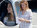"August 2, 2015: Jennifer Garner looks happy as she films scenes for the movie ""Miracles From Heaven"" in Atlanta, Georgia.\nMandatory Credit: INFphoto.com Ref: infusmi-11/13"