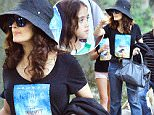 EXCLUSIVE: Salma Hayek and daughter Valentina were spotted enjoying a day at Disneyland in Anaheim, CA. The two spent the whole day at the Magic Kingdom enjoying most of the rides. They were accompanied by friends & family and they all wore promotion shirts for Salma's new movie 'The Prophet' which comes out later this year.\n\nPictured: Salma Hayek, Valentina Paloma Pinault\nRef: SPL1091057  310715   EXCLUSIVE\nPicture by: Sharpshooter Images /Splash\n\nSplash News and Pictures\nLos Angeles: 310-821-2666\nNew York: 212-619-2666\nLondon: 870-934-2666\nphotodesk@splashnews.com\n