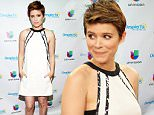 """MIAMI, FL - JULY 31:  Kate Mara is seen on the set of Despierta America to promote the film """"Fantastic Four"""" at Univision Studios on July 31, 2015 in Miami, Florida.  (Photo by Gustavo Caballero/Getty Images)"""