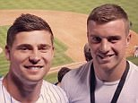 Youngs (left and George Ford (right) pose for a photo together as the Colorado Rockies beat Cincinnati Reds