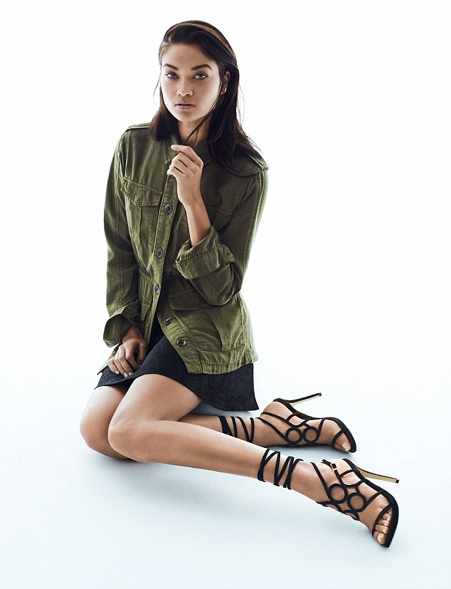 Top form: Shanina looks resplendent as ever in the shoot, which focuses on Tony Bianco's Spring/Summer '15 range