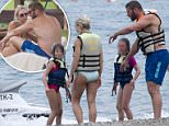 """01/08/15 PIC.SHOWS RUGBY PLAYER BEN COHEN ON HOLIDAY IN BELEK AREA OF ANTALYA IN TURKEY. WITH KRISTINA RIHANOF FROM """"STRICTLY COME DANCING"""".\nALSO THERE WERE HIS TWIN DAUGHTERS AGED SEVEN.\n***MUST CHECK WITH LEGEL DEPARTMENT REGARDING PIXELATING CHILDRENS FACES***"""