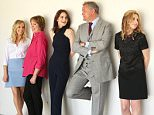 BEVERLY HILLS, CA - AUGUST 01:  (L-R) Actors Joanne Froggatt, Penelope Wilton, Michelle Dockery, Hugh Bonneville, Laura Carmichael, and Elizabeth McGovern of PBS's 'Downton Abbey' attend the Getty Images Portrait Studio powered by Samsung Galaxy at 2015 Summer TCA's at The Beverly Hilton Hotel on August 1, 2015 in Beverly Hills, California.  (Photo by Jesse Grant/Getty Images for Samsung)