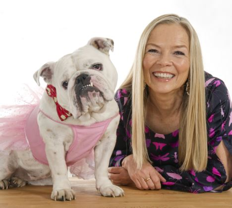 One pampered pooch: JoAnne Good plans to spend more than £600 on her bulldog Matilda this Christmas - but only £100 on her boyfriend George