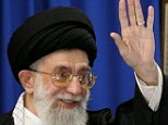 """Iran's supreme leader Ayatollah Ali Khamenei delivers the sermon of the weekly Friday prayers, with a portrait of the late founder of the Islamic republic Ayatollah Ruhollah Khomeini in the background, at Tehran University 19 August 2005.  Iran's Islamic regime is as """"solid as a mountain"""" and can easily stand up to international pressure for it to abandon sensitive nuclear activities, supreme leader Ayatollah Ali Khamenei said today. AFP PHOTO/ATTA KENARE (Photo credit should read ATTA KENARE/AFP/Getty Images)"""