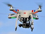 EFHRTM Drone camera in flight, Unmanned Aerial Vehicle, UAV or Drone, aerial photography or filming. Image shot 2015. Exact date unknown.