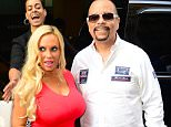 NEW YORK, NY - JULY 29:  Television Personality Coco Austin and Actor Ice-T are seen in Soho on July 29, 2015 in New York City.  (Photo by Raymond Hall/GC Images)