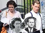 1st pix of Matt Smith and Claire Foy as The Queen and Prince Philip on set of øThe Crownø. London. 2/8/2015..Credit Byline:Eagle Eyes-EXCLUSIVE