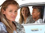 """Atlanta, GA - Part 2 - Actress Jennifer Garner tries to her mind off her divorce drama with Ben Affleck as she films scenes alongside co-star Queen Latifah in """"Miracles From Heaven"""". Jennifer could be seen filming a car scene while driving to the aquarium, but it appears that in between takes, she looks quite sad. \nAKM-GSI         August 2, 2015\nTo License These Photos, Please Contact :\nSteve Ginsburg\n(310) 505-8447\n(323) 423-9397\nsteve@akmgsi.com\nsales@akmgsi.com\nor\nMaria Buda\n(917) 242-1505\nmbuda@akmgsi.com\nginsburgspalyinc@gmail.com"""