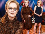 NEW YORK, NY - AUGUST 02:  Meryl Streep, Rick Springfield, and Mamie Gummer attend the 'Ricki And The Flash' cast photo call at Ritz Carlton Hotel on August 2, 2015 in New York City.  (Photo by Grant Lamos IV/FilmMagic)