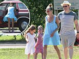 EXCLUSIVE TO INF.\nAugust 1, 2015: Sarah Jessica Parker and Matthew Broderick take their twin daughters, Marion Broderick and Tabitha Broderick, for an afternoon of playing at the park in East Hampton, New York. The family was seen leaving in their 1976 Ford Country Squire station wagon.\nMandatory Credit: Matt Agudo/INFphoto.com Ref: infusny-251