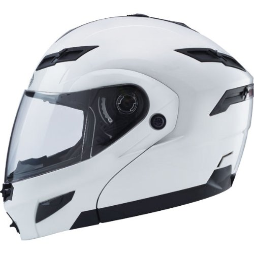 GMAX GM54S Modular Men's Street Motorcycle Helmet - Pearl White Large