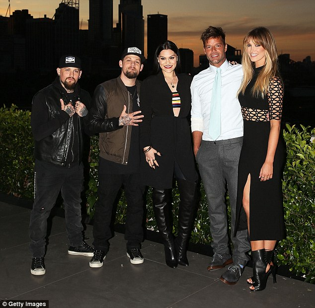 The coaches: Jessie J appears on The Voice Australia as a coach alongside fellow famous faces Benji and Joel Madden, Ricky Martin and Delta Goodrem